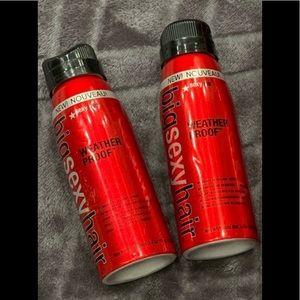 🦋2/$15 -2BigSexy Hair weatherproof 3.4oz pack NWT